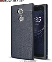 Cocomii Ultimate Armor Sony Xperia XA2 Ultra Case New [Heavy Duty] Premium Tactical Leather Pattern Grip Slim Fit Shockproof Bumper [Military Defender] Cover for Sony Xperia XA2 Ultra (Ul.Deep Blue)