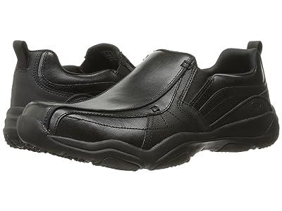 SKECHERS Classic Fit Larson Berto (Black Leather) Men
