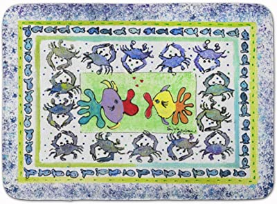 "Caroline's Treasures Kissing Fish Floor Mat, 8073-RUG, Multicolor, 19"" x 27"""