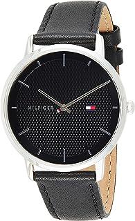Tommy Hilfiger Men'S Black Dial Black Leather Watch - 1791651