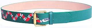 Yuangu Men's Coral Snake Print 38-mm Italian Leather Belt