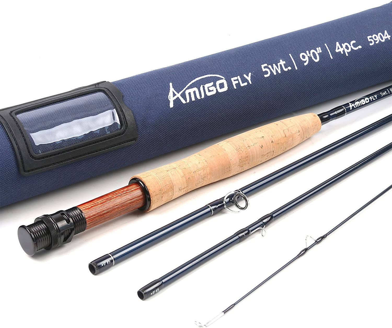 Unifishing Amigo Fly Rod 4 5 6 8wt 正規激安 Carbon IM10 7 Action Fast 9ft セール特別価格