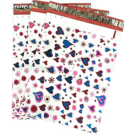 100 10x13 Beach Flower Designer Mailers Poly Shipping Envelopes Boutique Bags