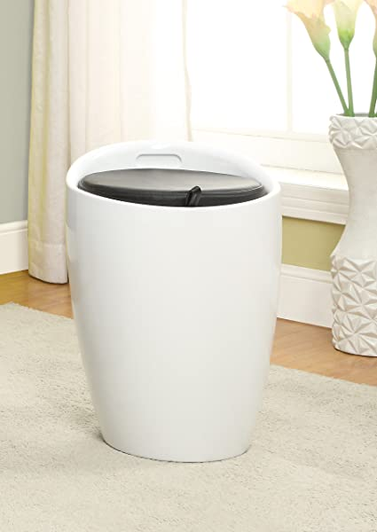 Enitial Lab IDF AC6228WH Kipper Storage Stool One Size White