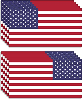 10 Pack of New USA American Flag Vinyl Decal 5 Regular 5 Reverse for Both Sides of Your Vehicle Army Navy Military Country Stickers Car Truck 2