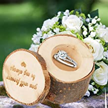 Kangkang@ Wooden Wedding Ring Box You Will Forever Be My Always Pattern Shabby Chic Wedding Wood Ring Jewelry Box Wedding Decor