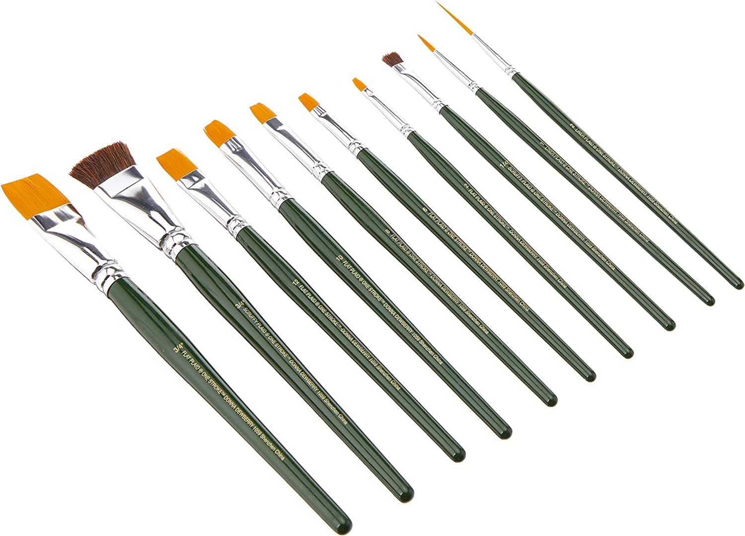 One Stroke Brush 10-Pack Quantity limited Very popular 1059 Set
