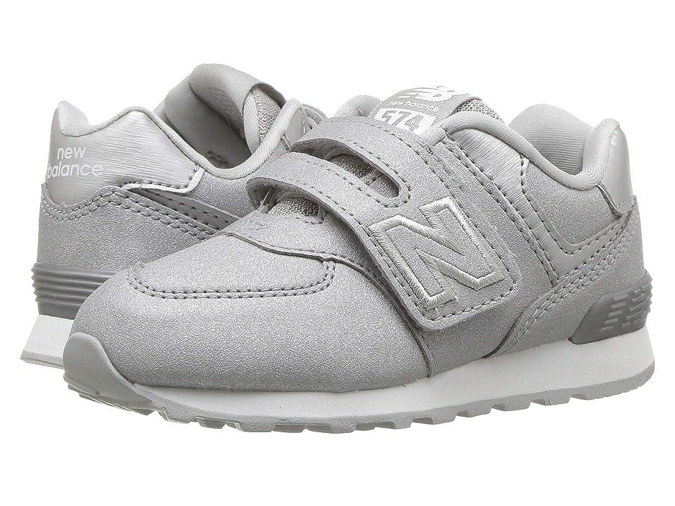 New Balance Kids IV574v1 (Infant/Toddler) (Silver/Silver) Girls Shoes