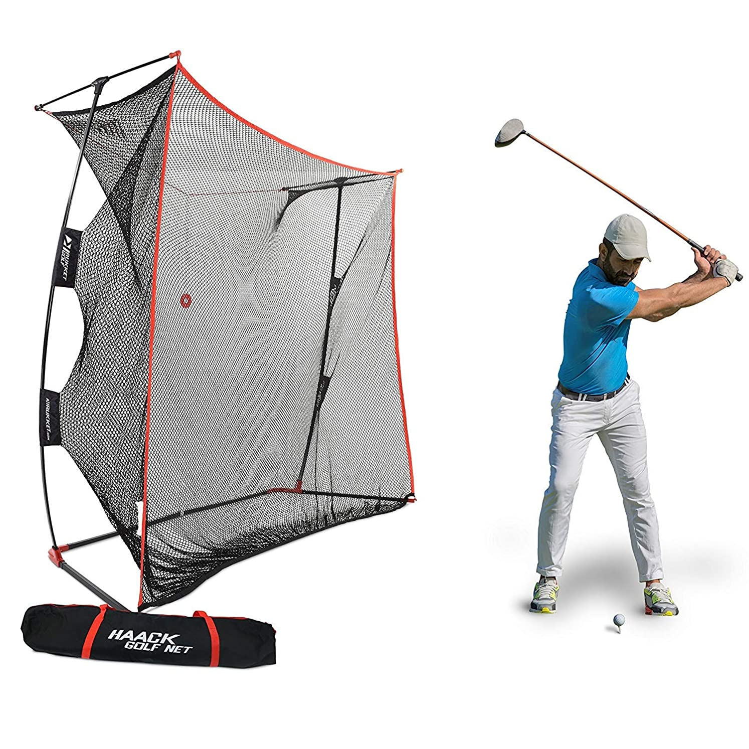 Rukket 9x7x3ft Haack Golf Net Pro | Practice Driving Indoor and Outdoor | Professional Golfing at Home Swing Training Aids | by SEC Coach Chris Haack usmotitut3999470