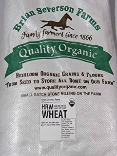 Organic Hard Red Winter Wheat Berries | Certified Organic Heirloom variety named TURKEY RED | 15 lbs. | Farmer Direct | Organic, non-GMO, IP