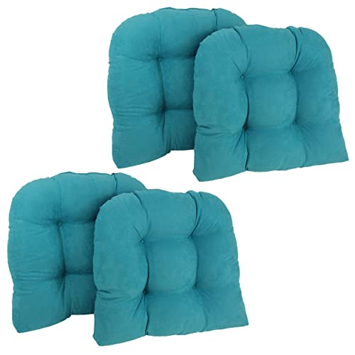 Beau Blazing Needles U Shaped Microsuede Tufted Dining Chair Cushions (Set Of 4),