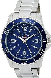 U.S. Polo Assn. Men's Quartz Metal and Alloy Casual Watch, Color Silver-Toned US8621