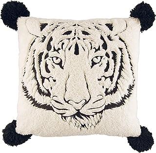 Betsey Johnson Betseys Tiger Throw Pillow, 20 x 20, Black