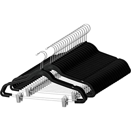 Gather together Hangers Stainless Steel Hangers Trouser Hanger Strong Chrome Pants Skirt Coat Hangers with Non-Slip Clips 30cm 12 Pack of 10