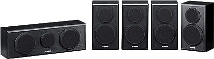 Yamaha NS-PA150 Paquete de 5 Bocinas 4 Baffles de Repisa y 1 Canal Central, negro