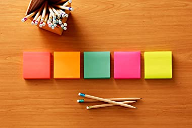 Post-it Pop-up Notes, 3 in x 3 in, 12 Pads, America's #1 Favorite Sticky Notes, Cape Town Collection, Bright Colors, Clea