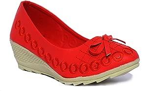 Leatherwood1 Girls Slip on Red Ballerinas