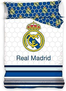 Real Madrid Juego de Cama 90 Algod/ón 100/% Funda N/órdica y Funda Coj/ín F/útbol DHestia RM181021