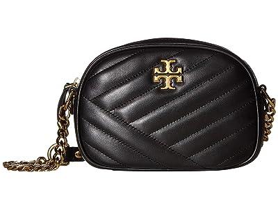 Tory Burch Kira Chevron Small Camera Bag (Black) Handbags