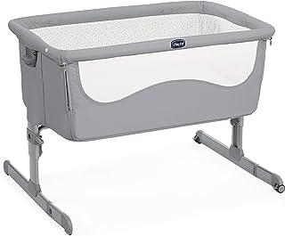 Chicco Next2Me Cuna de colecho con fácil apertura lateral, anclaje a cama y 6 alturas, color gris (Pearl)