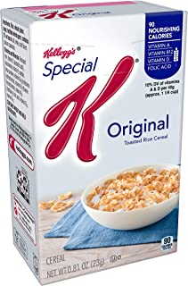 Special K Breakfast Cereal Original, 0.81 oz Individual Box(Pack of 70)
