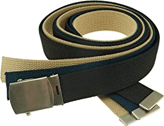 Cargo Cotton Military Belt 3-pack Made in USA by Thomas Bates