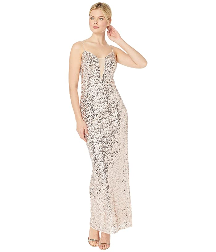 Sequin Column Evening Gown by Adrianna Papell