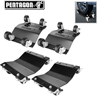 Pentagon Tool | Commercial Grade 4-Pack | Tire Dolly - Tire Skates | 1,500 lbs Rating | Black