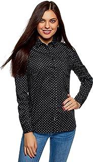Amazon.es: camisa negra mujer Lunares: Ropa