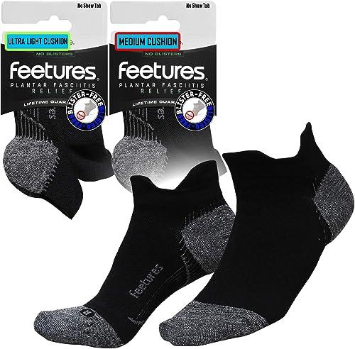 Feetures Ultimate Compression Pro Chaussettes de compression pour fasciite plantaire Noir