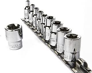 eHomeA2Z 11 Pc E-Torx Female Star Socket Set CR-V Steel E4 - E18