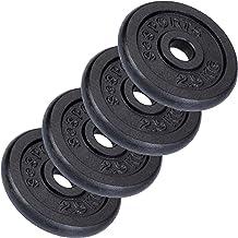 ScSPORTS Halterschijvenset 10 kg, 4 x 2,5 kg halterschijven, gietijzer, 30 mm, gewichten, Voor effectieve fitness- en krac...