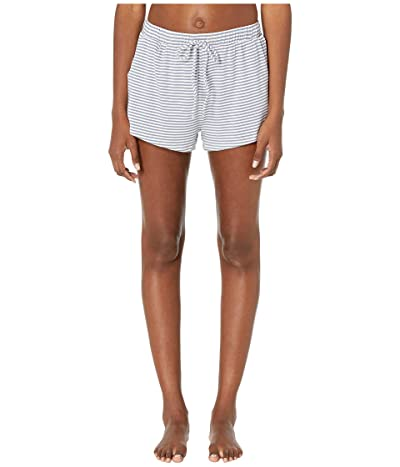 Eberjey Sadie Stripes The Sport Shorts (Oxford Blue/Ivory) Women