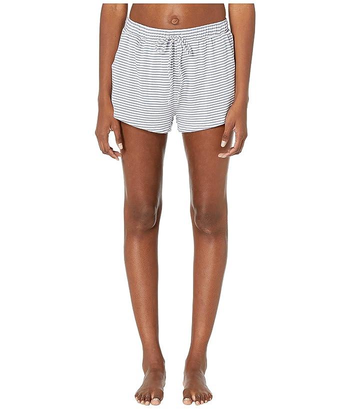 Eberjey Sadie Stripes The Sport Shorts (Oxford Blue/Ivory) Women