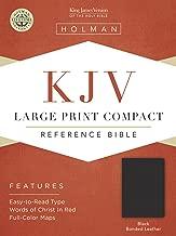KJV Large Print Compact Bible, Black Bonded Leather