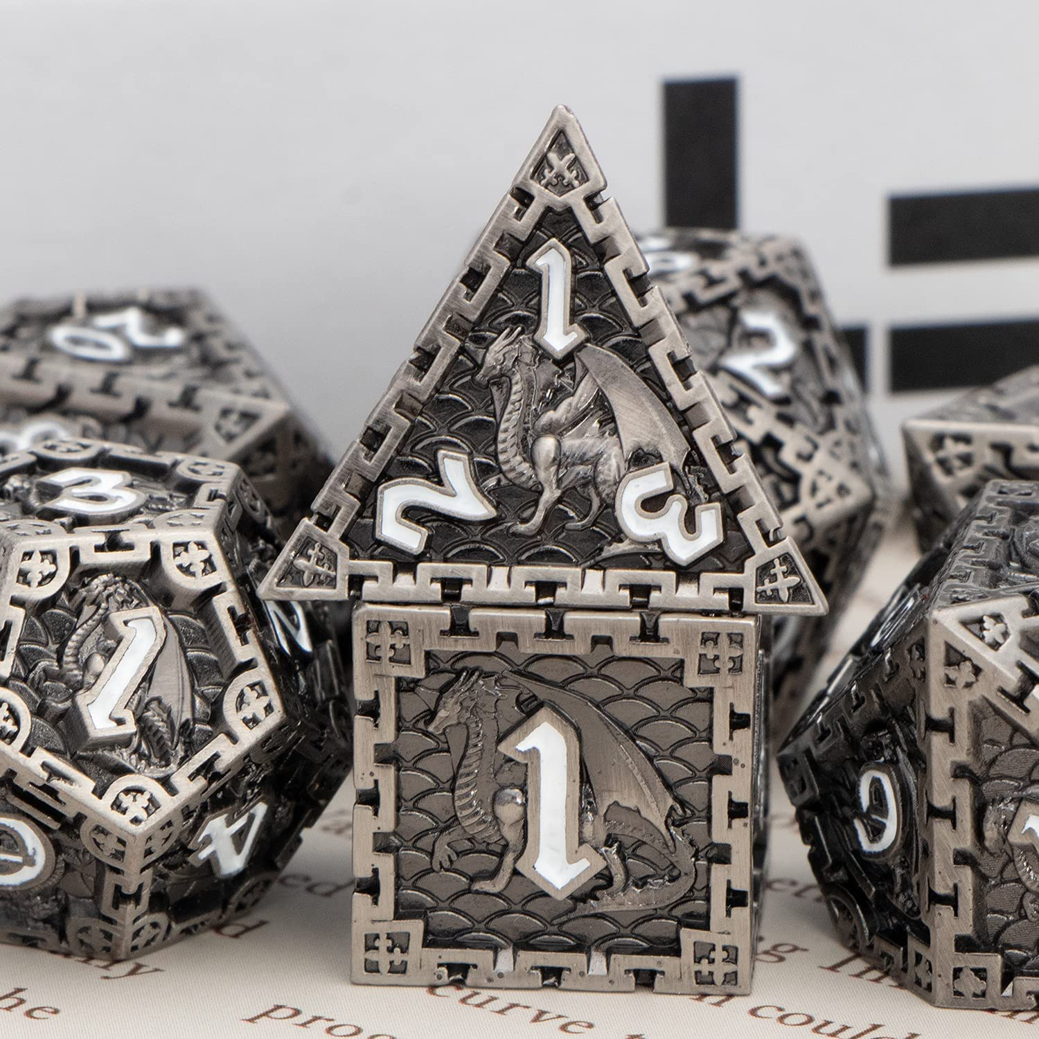 DND Dice Set with Gift Box S Ranking TOP16 Product Metal Polyhedral Pcs RUNFNG 7