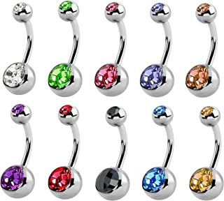 Best belly bar sizes guide Reviews