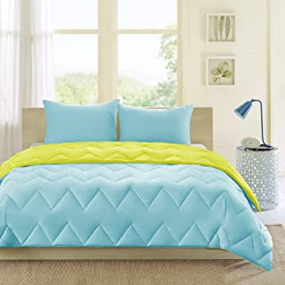 teal and lime green baby bedding