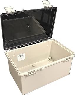 BUD Industries NBF-32218 Plastic Indoor NEMA Economy Box with Clear Door, 11-51/64