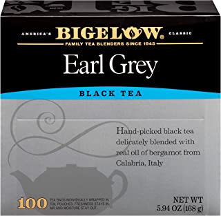 Bigelow Earl Grey Black Tea - 100 Tea Bags (Full Size)