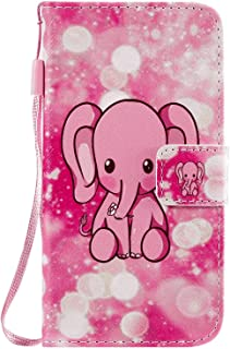PU Leather Flip Cover Compatible with Samsung Galaxy S20 Plus, elephant Wallet Case for Samsung Galaxy S20 Plus