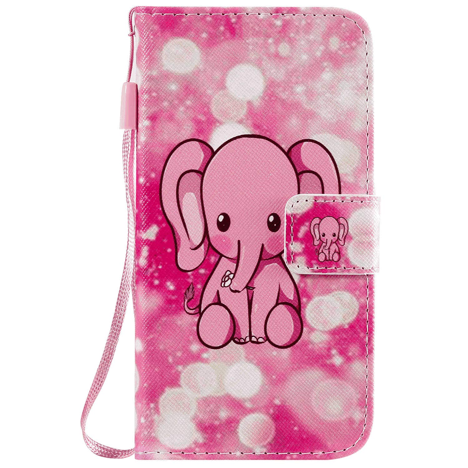 Elephant Leather Cover Wallet for iPhone XR Simple Flip Case Fit for iPhone XR