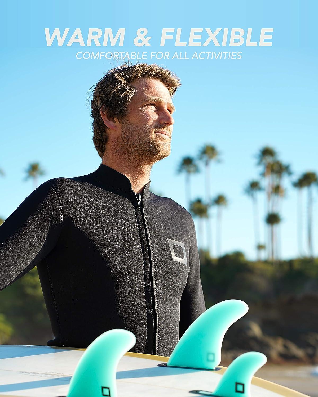 TYUE 3Mm Wetsuit Top N/éopr/ène Thermique sans Manches en N/éopr/ène Gilet pour Hommes Femmes Plong/ée Gilet Surf De Natation