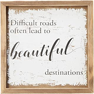 Best difficult roads often lead to beautiful destinations sign Reviews