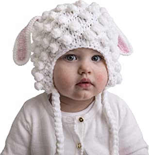 Huggalugs Baby and Toddler Girls Lamb Sheep Beanie Hat, or Leg Warmers