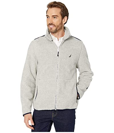 Nautica Sherpa Mix Jacket (Grey Heather) Men