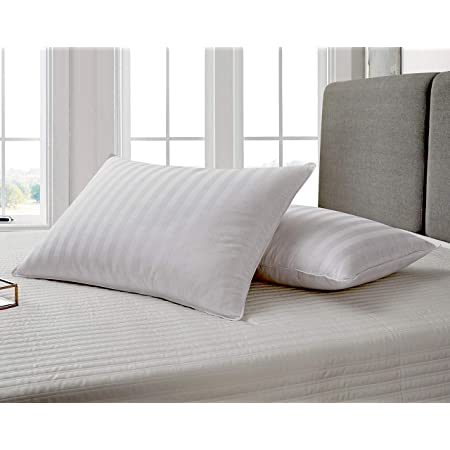 Wakewell Soft Fibre Pillow, 61 x 41 cm, White, Pack of 2