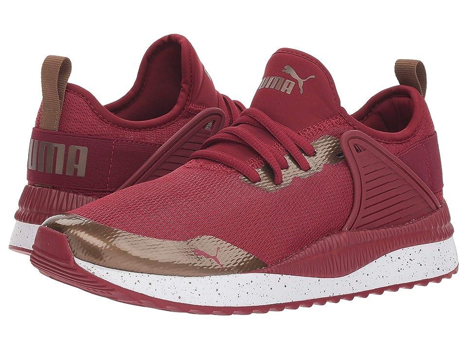 Puma Kids Pacer Next Cage MetSpeckle Jr (Big Kid) (Tibetan Red/Metallic Bronze) Girls Shoes