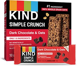 KIND Simple Crunch Bars, Dark Chocolate & Oats, 1.4 Ounce (Pack of 40)