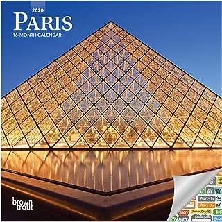 Paris Calendar 2020 Set - Deluxe 2020 Paris Mini Calendar with Over 100 Calendar Stickers (Paris Gifts, Office Supplies)